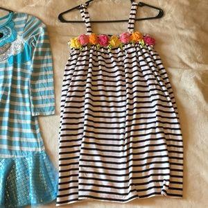 Jelly The Pug Dresses - Girl Size 10 dress lot Flower Mermaid striped TuTu